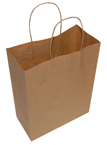 Plain Paper Carrier Bags Brown 240 x 110 x 310mm-0