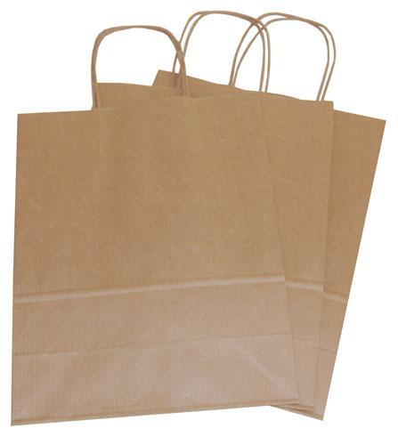 Plain Paper Carrier Bags Brown 240 x 110 x 310mm-1776