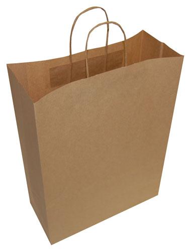 Plain Paper Carrier Bags Brown 320 x 120 x 410mm-0
