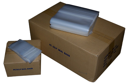 "Plain Polythene Grip Seal Bags 13 x 18"" -0"