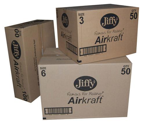 Jiffy AirKraft Mailers JL0 White 140mm x 195mm-586