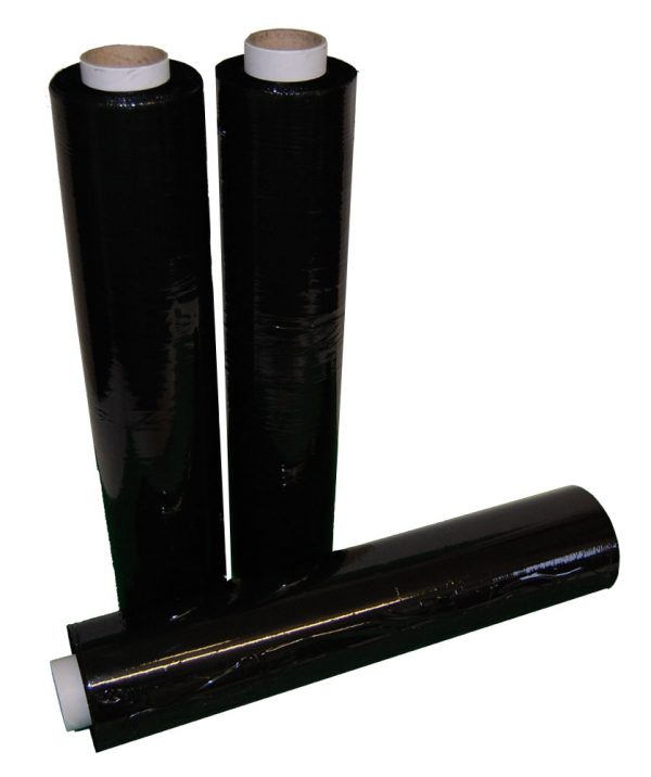 Hand Pallet Wrap Standard Core Black 500mm x 200m x 25mu-536