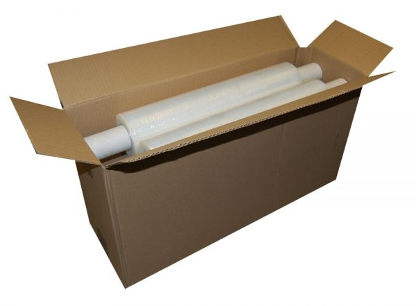 Hand Pallet Wrap Extended Core Clear 400mm x 300m x 17mu-530
