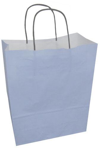 Paper Carrier Bags Pale Blue 240 x 110 x 310mm-0