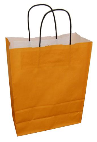 Paper Carrier Bags Orange 240 x 110 x 310mm-0