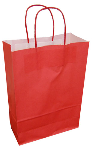 Paper Carrier Bags Red 220 x 100 x 310mm-0