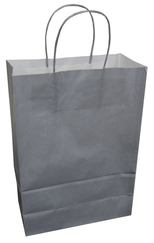 Paper Carrier Bags Silver 220 x 100 x 310mm-0