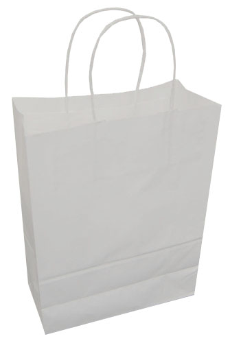 Paper Carrier Bags White 240 x 110 x 310mm-0