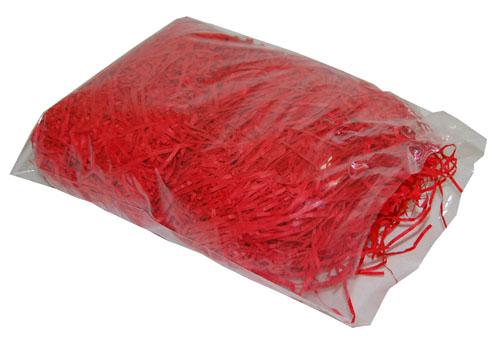 Shredded Kraft Paper Cherry Red 1kg Bag-486