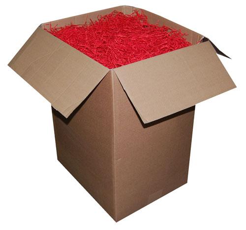 Shredded Kraft Paper Cherry Red 1kg Bag-487