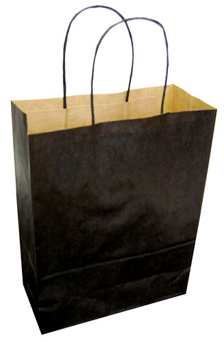 Paper Carrier Bags Black 180 x 80 x 220mm-0