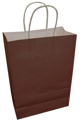 Paper Carrier Bags Chocolate 180 x 80 x 220mm-0