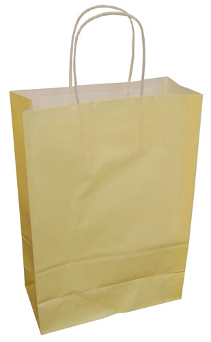 Paper Carrier Bags Cream 180 x 80 x 220mm-0