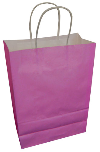 Paper Carrier Bags Fuchsia 180 x 80 x 220mm-0