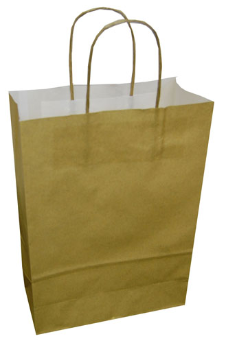 Paper Carrier Bags Gold 180 x 80 x 220mm-0