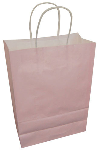 Paper Carrier Bags Pastel Pink 180 x 80 x 220mm-0