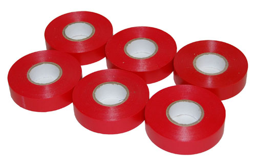 PVC Electrical Tape Red 19mm x 33m-0
