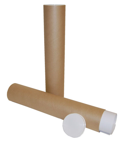 Postal Tubes Brown 76mm x 2mm x 300mm-0