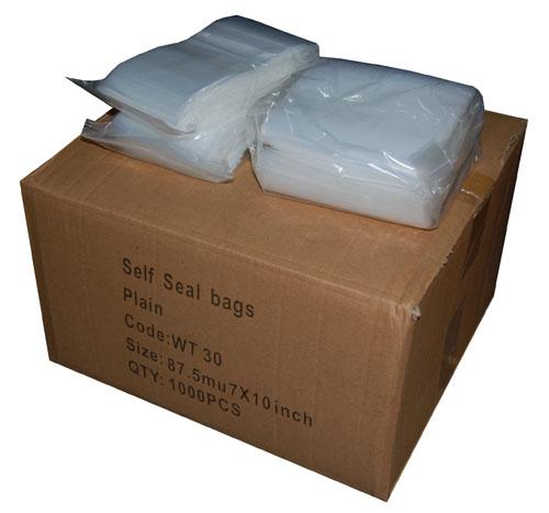"Heavy Duty Polythene Grip Seal Bags 8"" x 12"" -0"