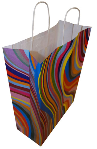 Paper Carrier Bags 70's Retro 320 x 140 x 410mm-1752
