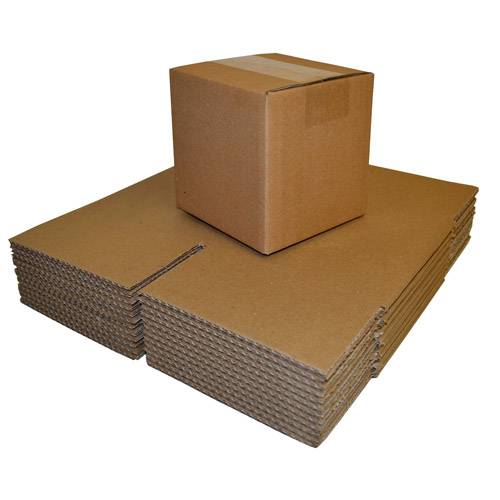 "Brown Single Walled Boxes 254 x 254 x 254mm (10 x 10 x 10"")-0"