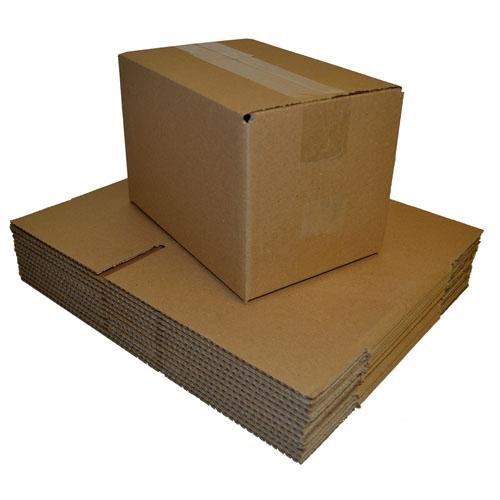 "Brown Single Walled Boxes 203 x 152 x 102mm (8 x 6 x 4"")-0"