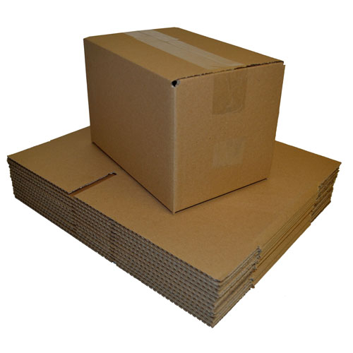 "Brown Single Walled Boxes 305 x 229 x 229mm (12 x 9 x 9"")-0"