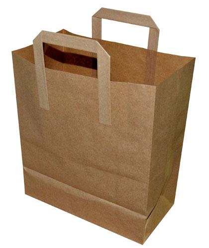 Paper Takeaway Bags Brown Plain 175 x 90 x 225mm-0