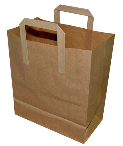 Paper Takeaway Bags Brown Plain 260 x 140 x 300mm-0