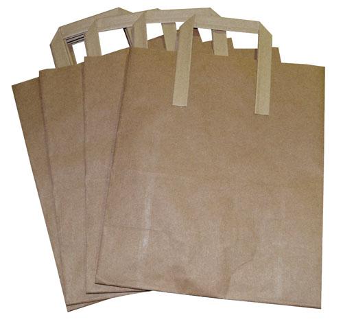 Paper Takeaway Bags Brown Plain 260 x 140 x 300mm-1970