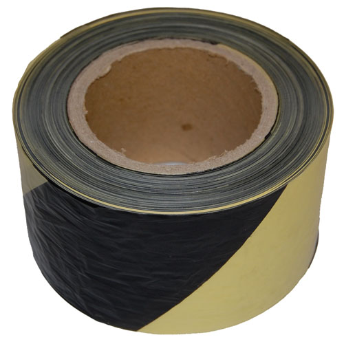 Barrier Tape Yellow and Black 75mm x 500m-0