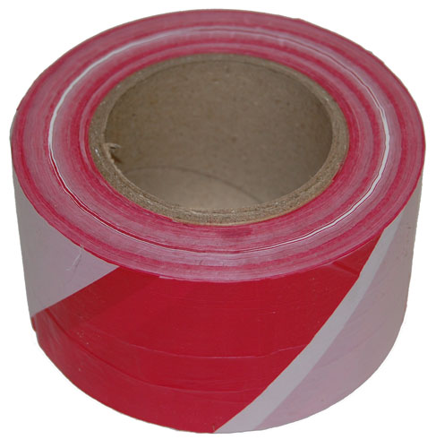 Barrier Tape Red and White 75mm x 500m-0