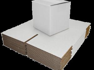 White Single Walled Boxes