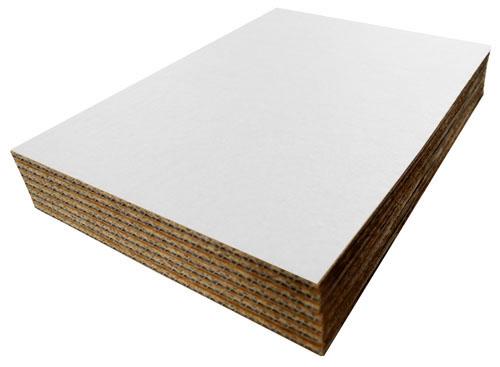 White Cardboard Sheets 297mm x 210mm A4 Single Wall-0