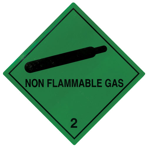 Non Flammable Gas Labels 100mm x 100mm-0