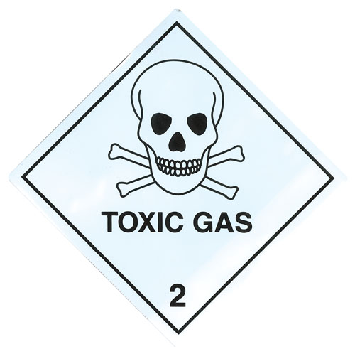 Toxic Gas Labels 100mm x 100mm-0