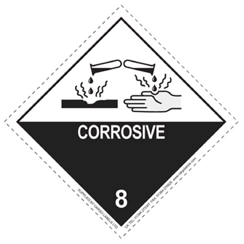 Corrosive Labels 100mm x 100mm-0