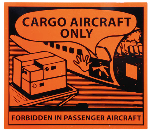 Cargo Aircraft Only Labels 125mm x 110mm-0
