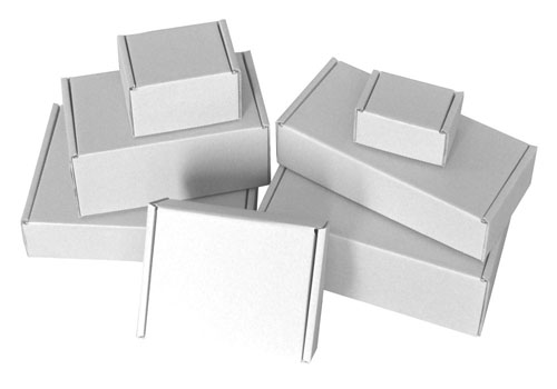"Die Cut Boxes White 203 x 152 x 102mm (8 x 6 x 4"") DC40-0"