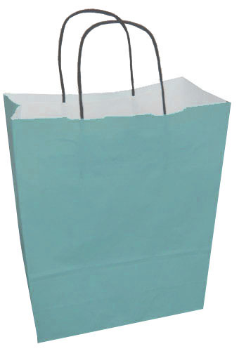 Paper Carrier Bags Turquoise 220 x 100 x 310mm-0