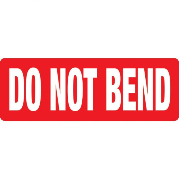DO NOT BEND Labels 89mm x 32mm-0