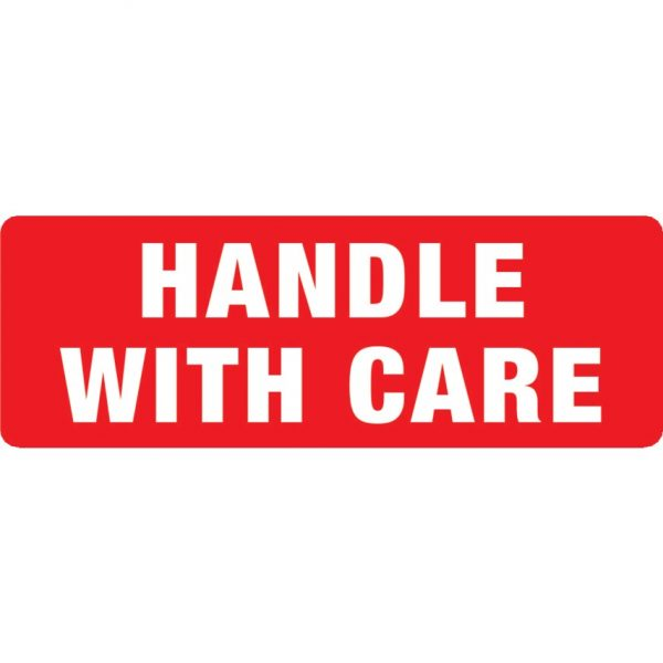 HANDLE WITH CARE Labels 89mm x 32mm-0