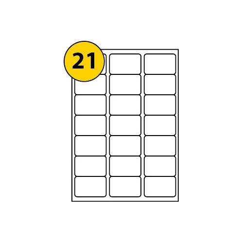 Label Sheets 63.5mm x 38.1mm-3011