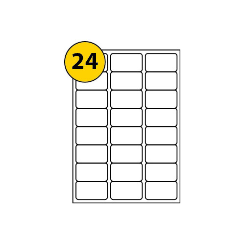 Label Sheets 63.5mm x 33.9mm-3015
