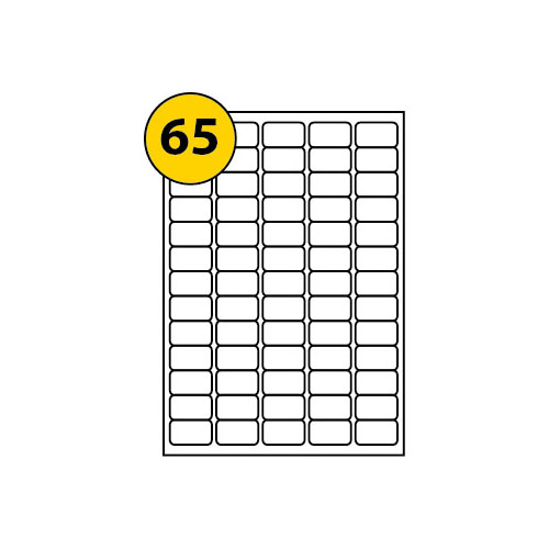 Label Sheets 38.1mm x 21.2mm-3019