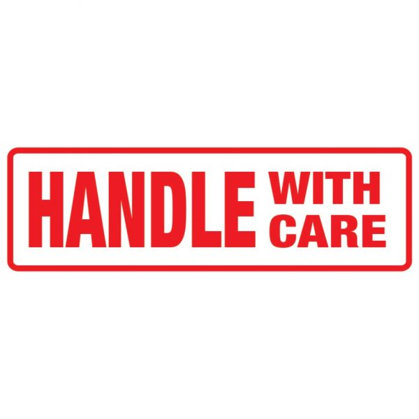 HANDLE WITH CARE Labels 148mm x 50mm-0