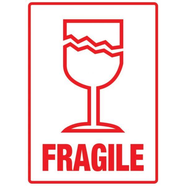 FRAGILE Labels 108mm x 79mm-0