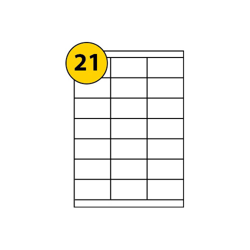 Label Sheets 70mm x 38mm-3055
