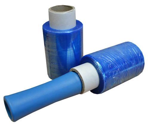 Mini Pallet Stretch Wrap Blue 100mm x 150m x 17mu-2962