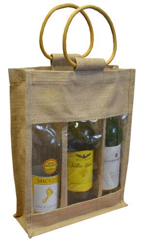 Triple Bottle Jute Bags-0